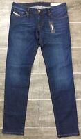 Diesel Getlegg Jeans Slim Skinny Low Waist Wash RS004 Blue Denim $178 NWT