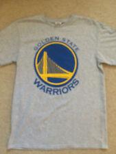 Golden State Warriors Grey Gray NBA Basketball Sz M Cotton Shirt NWT