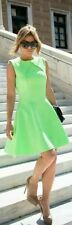 TED BAKER 'TEZZ' NEON LIME TEXTURED SKATER STYLE DRESS SIZE 2 (10)