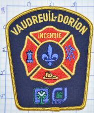 CANADA, VAUDREUIL-DORION FIRE RESCUE INCENDIE QUEBEC GOLD EDGE PATCH