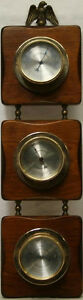 """20"""" SPRINGFIELD INSTRUMENT THERMOMETER, THERMOMETER AND HUMIDITY WALL MOUNT"""