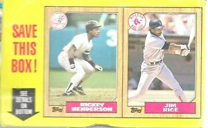 1987 Topps Box EMPTY Lot Of 4 Complete Limited Edition Set Dave Righetti Top