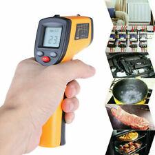 Non-Contact LCD IR Laser Infrared Digital Temperature Thermometer Gun Pyrometer^