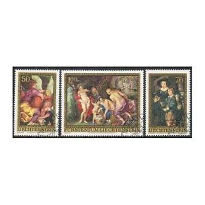 Liechtenstein 595-597,CTO.Michel 655-657. Peter Paul Rubens,paintings.1976.