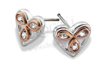 NEW Welsh Clogau Silver & Rose Gold Heart of Wales Earrings £30 off!