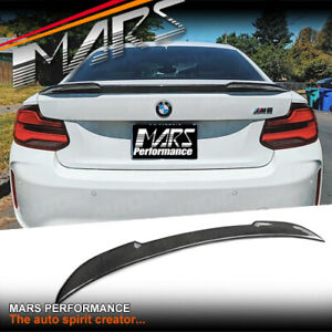 CS Style Carbon Fibre Trunk Lip Spoiler Wing for BMW 2-Series F22 Coupe & F87 M2