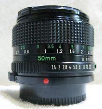 Canon  50mm  f1.4  Prime  Lens , Canon FD Mount , V/Good,