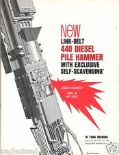 Equipment Brochure - Link-Belt Speeder - 440 - Diesel Pile Hammer - 1966 (E1714)