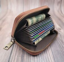 AG Wallets RFID Genuine Leather Accordion Style Credit Card Holder Womens Wallet
