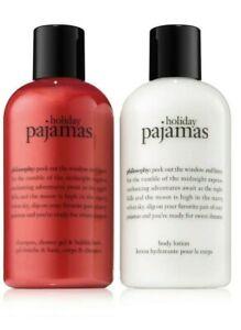PHILOSOPHY Holiday Pajamas Shower Gel / Lotion SET