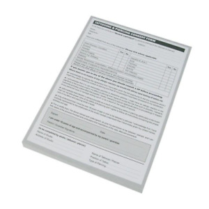Tattoo Piercing Consent Form - A4 + A5 - 100 Sheet Pad for Tattoo Studio