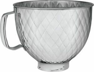 Kitchenaid Rührschüssel 5KSM5SSBQB Metallschüssel GESTEPPT Edelstahl, NEU + OVP