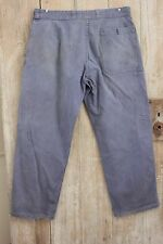 Vintage French workwear chore pants clothes blue farmers trousers 35 inch Waist