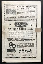 KING'S THEATRE GLASGOW - IT DEPENDS WHAT YOU MEAN - Programme 11th Sept 1944*