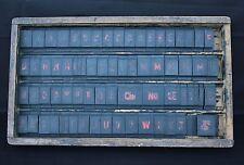 Rare coffret 70 lettre industriel tampon typographie Kabey h: 4,8cm Kg N° Cie Oe