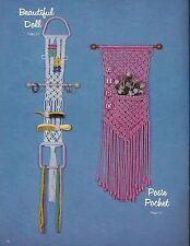 Macrame Girls Hair Organizer - Craft Book:#GS14 Simply Elegant Kiddie Karnival