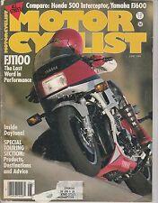 JUNE 1984 MOTORCYCLIST motorcycle magazine FJ1100