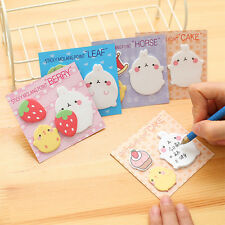 2x Korean Rabbit Leaf Sticky Notes Sticker Bookmarker Memo Pad Home Office Class