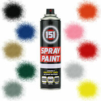 x3 Car Spray Paint 151 Aerosol Primer Matt Gloss Metallic Clear Lacquer 300ml