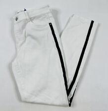 New listing Polo Golf Ralph Lauren Womens 4 White Skinny Jeans Pants Black Vertical Stripe