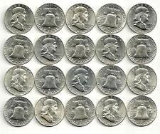 1 Roll__1962-D Franklin Half Dollar Coins__BU/UNC__90% Silver__#1555KJ12