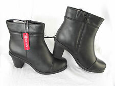 BNWT Ladies Sz 8 Rivers Brand Super Soft Black High Heel Short Boots RRP $100