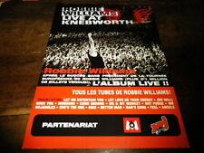 ROBBIE WILLIAMS - Plan média / Press kit !!! LIVE AT KNEBWORTH !!!