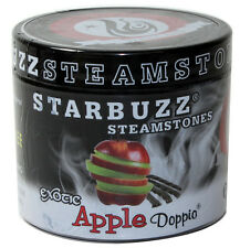 (1)Starbuzz Shisha Steam Stones 125g Resealable Jar - Apple Doppio NoTobacco/Tar