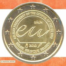 Sondermünzen Belgien: 2 Euro Münze 2010 EU-Ratspräsidentschaft zwei€ Sondermünze