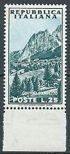 1953 ITALIA TURISTICA 25 LIRE VARIETà MNH ** - JU047-2