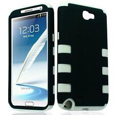 Dynamic Hybrid Tuff Hard Case for Samsung Galaxy Note II N7100 - White/Black
