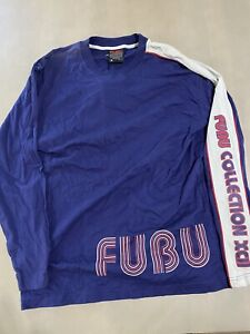 Vintage Deadstock Fubu Longsleeve T Shirt - Kani Rap 90s Hip Hop Avirex Shady