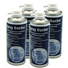 4 x Compressed AIR DUSTER CLEANER SPRAY CAN CANS CANNED German Made 400ml NEW