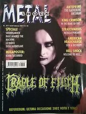 METAL SHOCK N° 377/2003 CRADLE OF FILTH SOUNDGARDEN RAGE AGAINST THE MACHINE
