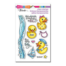 BABY Rubber Duck CLEAR Unmounted Rubber Stamp Set STAMPENDOUS SSC1258 New