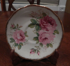 "ROYAL ALBERT ""AMERICAN BEAUTY"" PATTERN SAUCER (S) 5 5/8"" MADE IN ENGLAND"