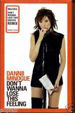 DANNII MINOGUE - DON'T WANNA LOSE THIS FEELING 2003 UK CASSINGLE CARD SLIP-CASE