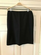 "Calvin Klein Collection.Straight/pencil skirt. Black. Waist 35"" 100% wool. UK 12"