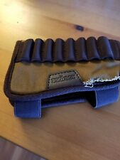 Tourbon Canvas and Leather Rifle Buttstock Ammo Cartridge Holder