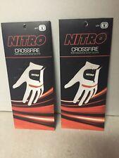 New X2 Nitro Crossfire Performance Golf Gloves Men's Left Hand White Orange M