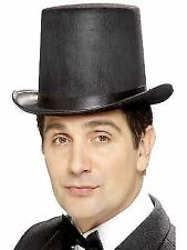 Stovepipe Topper Hat Tall Black Top Steampunk Victorian Quality 99788 Smiffys