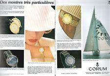 ▬► PUBLICITE ADVERTISING AD WATCH MONTRE CORUM 1985 2 pages