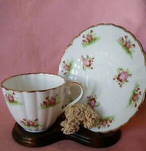 Vintage Jason Dainty Pink Florals Bone China Tea Cup & Saucer