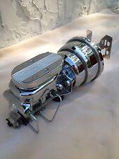 "1960-66 Chevy C10 C20 8"" chrome brake booster master cylinder 4 wheel disc valve"
