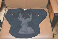 tee shirt bonpoint noir 4 ans le cerf avec papilles tres mimi
