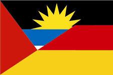 Fahne Flagge Antigua-Deutschland Freundschaftsflagge 60 x 90 cm Premiumqualität