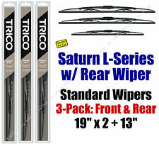 Wiper Blades 3pk Front Rear Standard fit 2000-2005 Saturn L-Series 30190x2/130