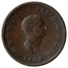More details for 1806 half penny of george iii.  - nice collectible coin    #20