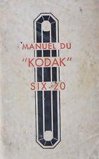 Instruction manual the Kodak Six-20 (Fr)