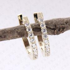 0.10 Ct Round Cut 14k Yellow Gold Natural Diamond Stud Earrings